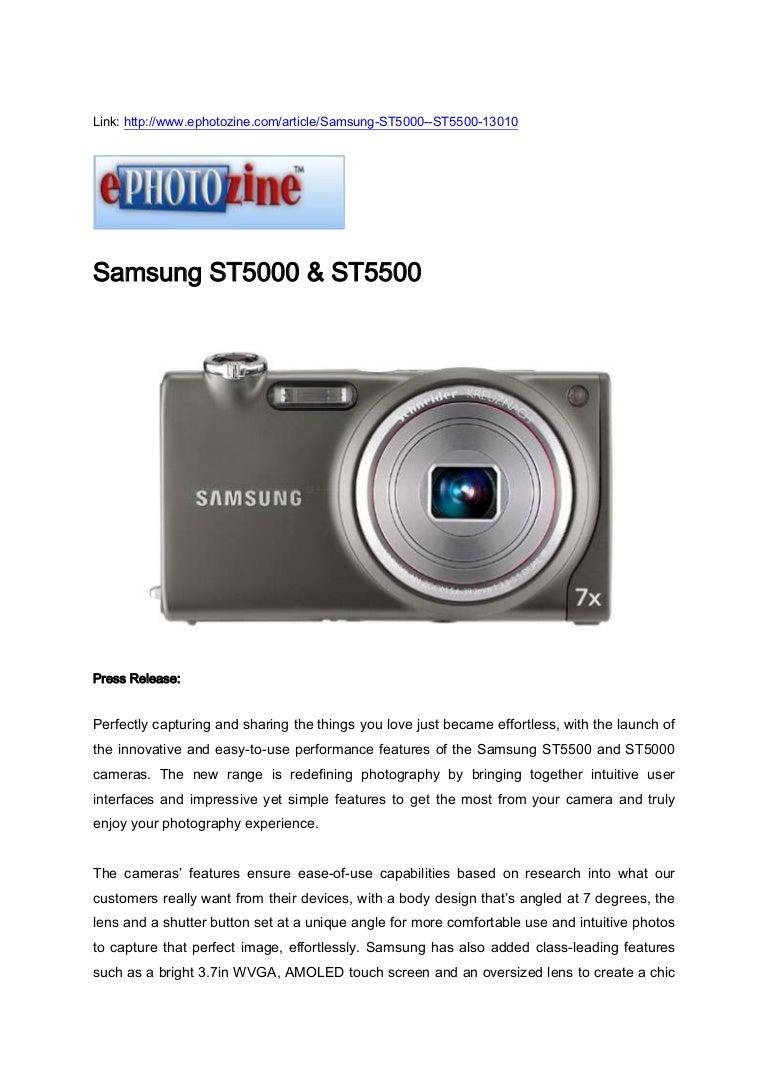 Samsung st5000 & st5500.