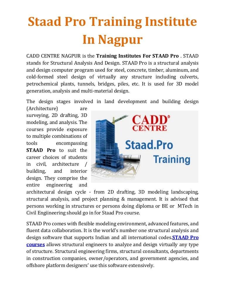 Staad Pro Training Institute In Nagpur