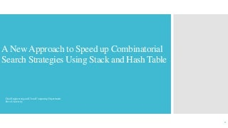 Stack and Hash Table