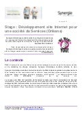 Stage site web fevrier 2013