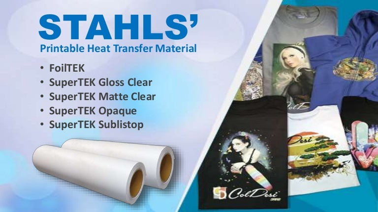 photograph regarding Printable Clear Vinyl titled STAHLS CAD-Shade SuperTEK™ Printable Warm Move Vinyl