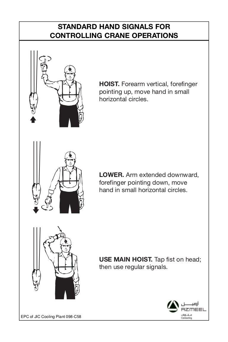 Job site hand signals