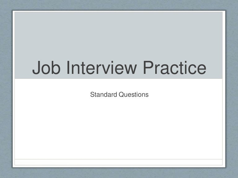 Business English: Job Interview Practice