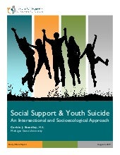 Social Support and Youth Suicide