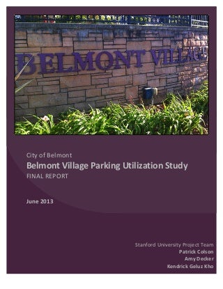 Stanford Belmont Parking Report