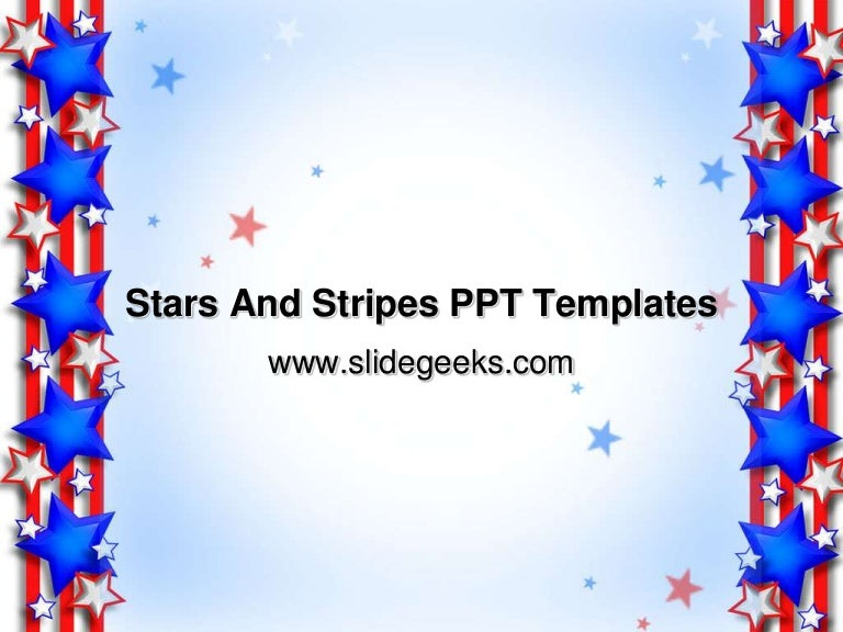 stars and stripes ppt templates, Modern powerpoint