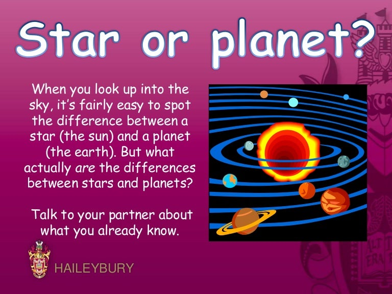 difference between stars and planets with comparison - 768×576