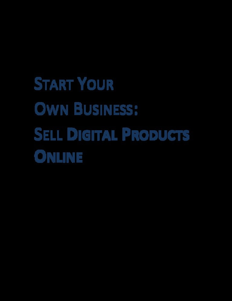 Types of Digital Products To Sell