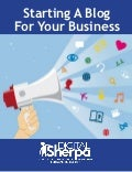 Free ebook: Starting a Blog for your Business