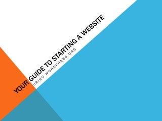 Starting a Hosted WordPress Blog
