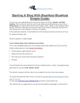 Starting building your wordpress blog with bluehost 2019-bluehost simple guide