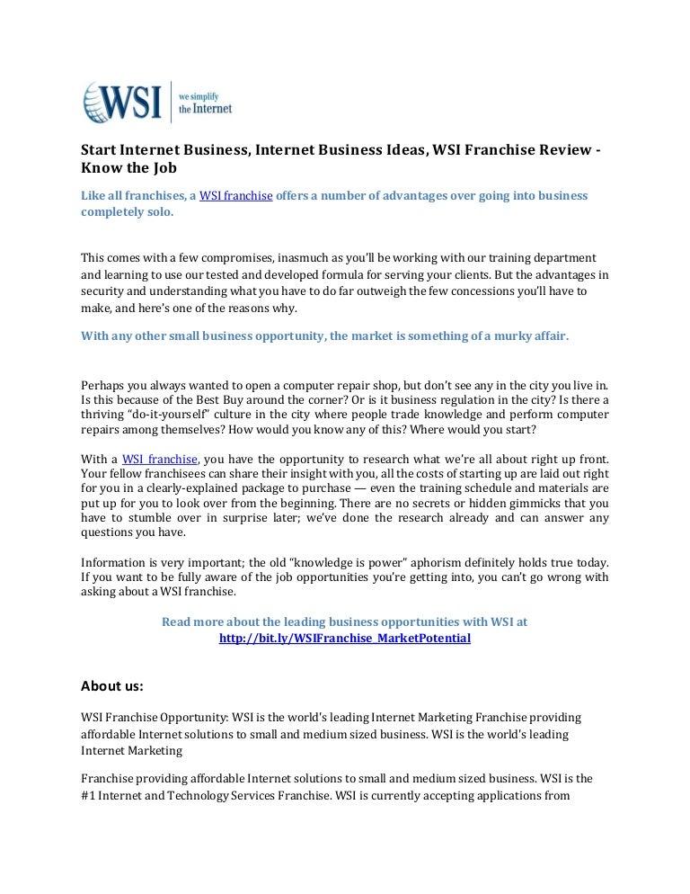 Start internet business internet business ideas wsi franchise revie solutioingenieria Images