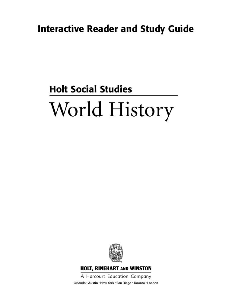 Holt social studies workbook fandeluxe Gallery