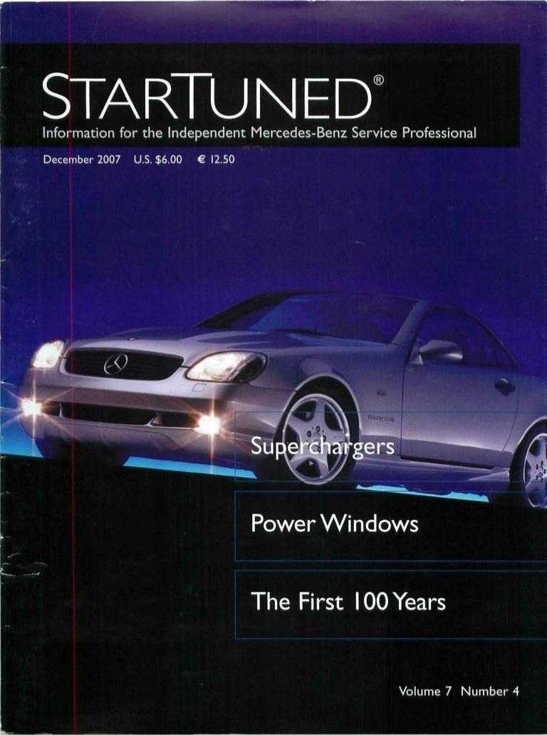 Star Tuned Magazine December 2007 Mercedes Benz 2002 Ml500 Fuse Box Diagram