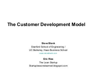 Customer Development at Startup2Startup