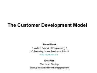 Customer Development at Startup2Startup
