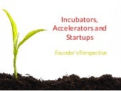 Incubators, Accelerators and Startups - From a Founder Perspective @ Startup mantra 2014