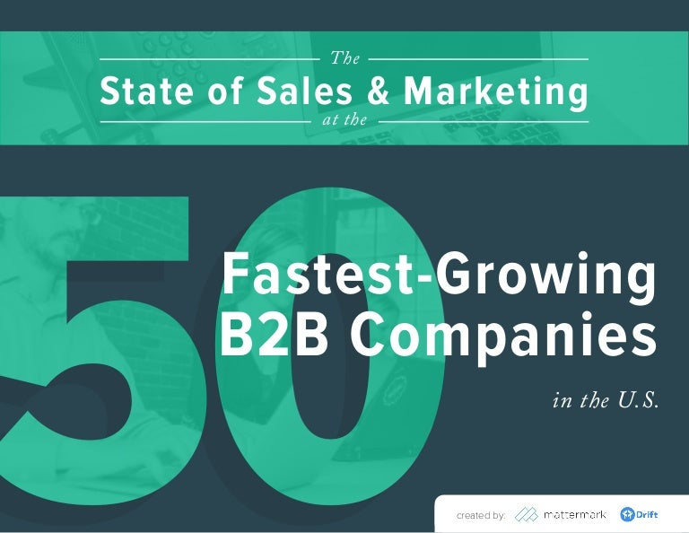 The State of Sales & Marketing at the 50 Fastest-Growing B2B Companies