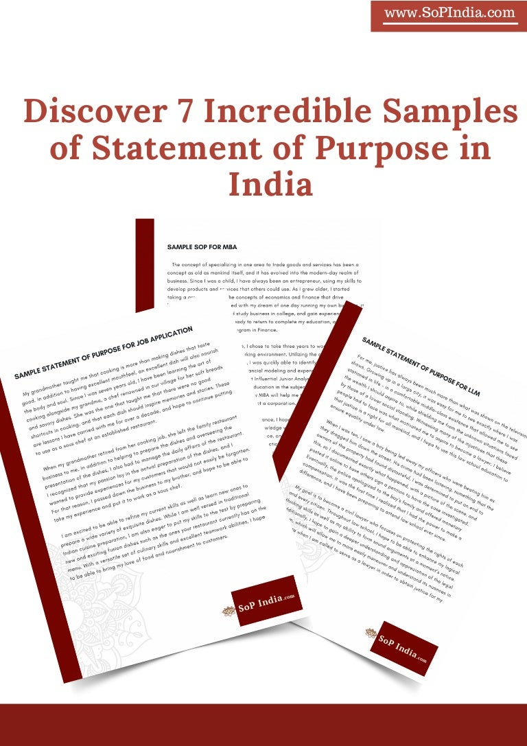 statement of purpose for llm sample