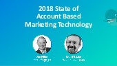 [TOPO Webinar] 2018 State of Account Based Marketing Technology