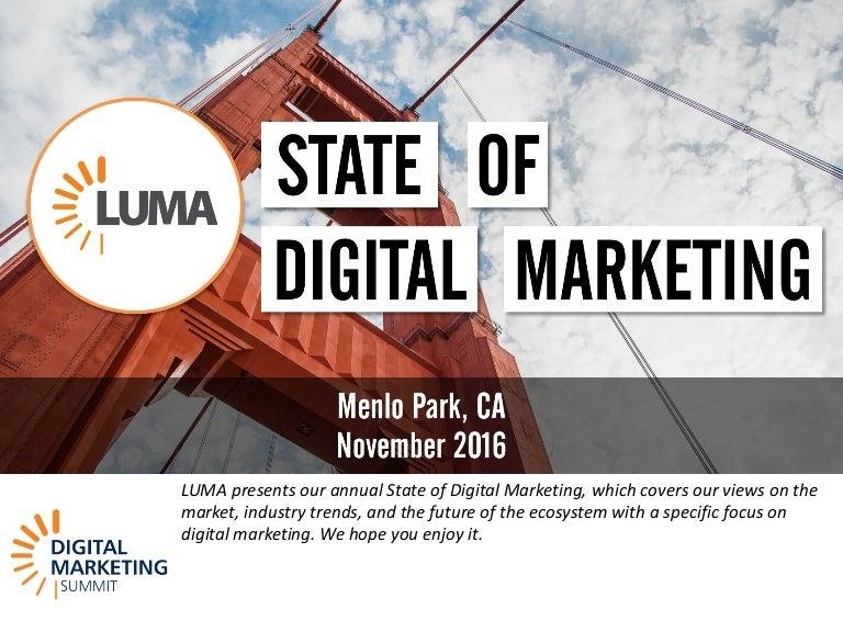 LUMAs State Of Digital Marketing At DMS West - Digital advertising map luma 2016 us