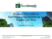 State of the Additive Manufacturing Workforce in Northeast Ohio