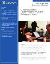 Cincom Smalltalk Helps Wisconsin Collect Delinquent Taxes