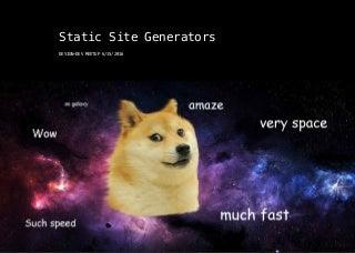 Static site gen talk