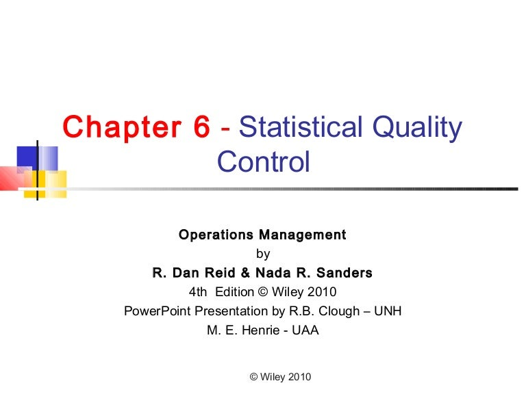 Statistical quality control ppt presentation