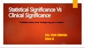 Statistical significance vs Clinical significance