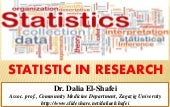 Statistic in research