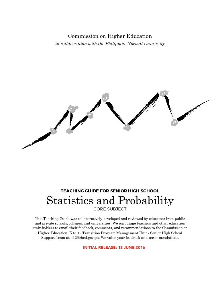 STATISTICS AND PROBABILITY (TEACHING GUIDE)