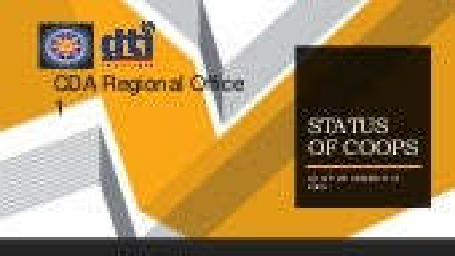 Statistics of Region 1 Coops