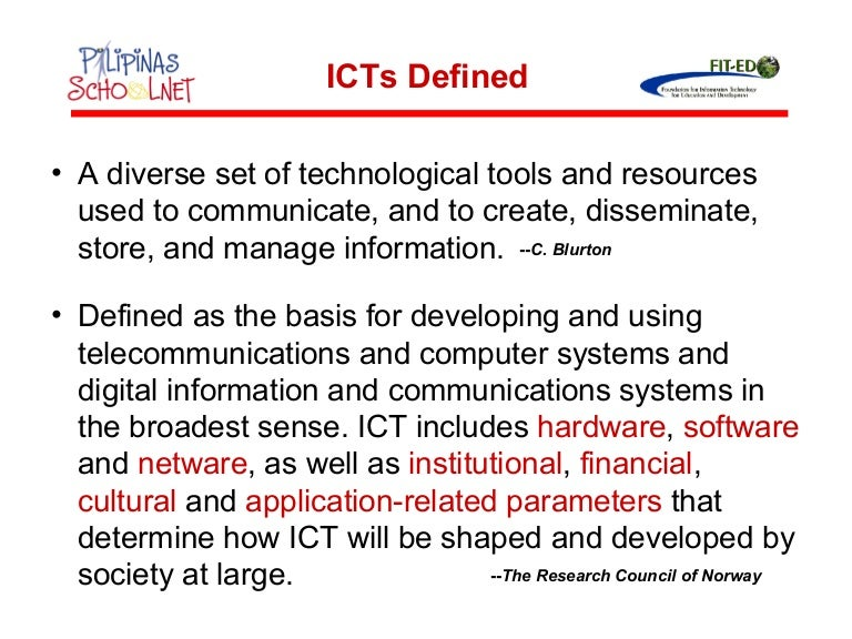 malaysia's application of ict in education (2010), ict can be used to improve the quality of education by enhancing educational content development, supporting administrative processes in schools and other educational establishments, and increasing access to education for both teachers and students via distance or e-learning.