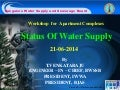 Better Apartment Management: Water Management - Status of Water in Bangalore - Presented By BWSSB