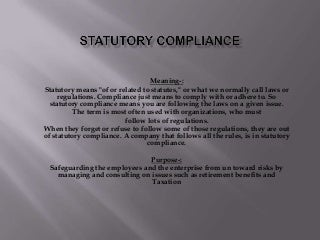 Statutory Compliance for HR