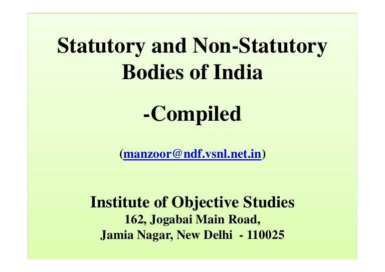 Statutory non Statutory Bodies