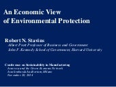 An Economic View of Environmental Protection