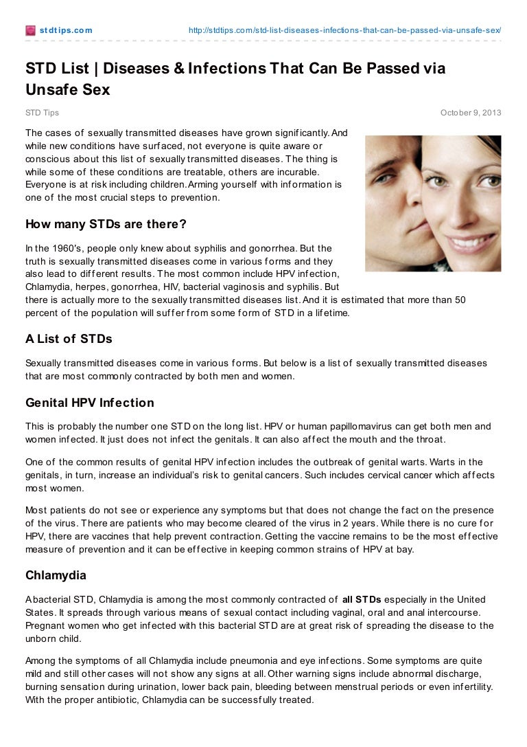 stdtips std list-_diseases_amp_infections_that_can_be_passed_via_…