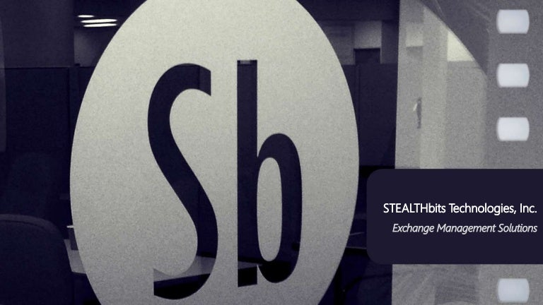 Stealthbits Solutions For Exchange