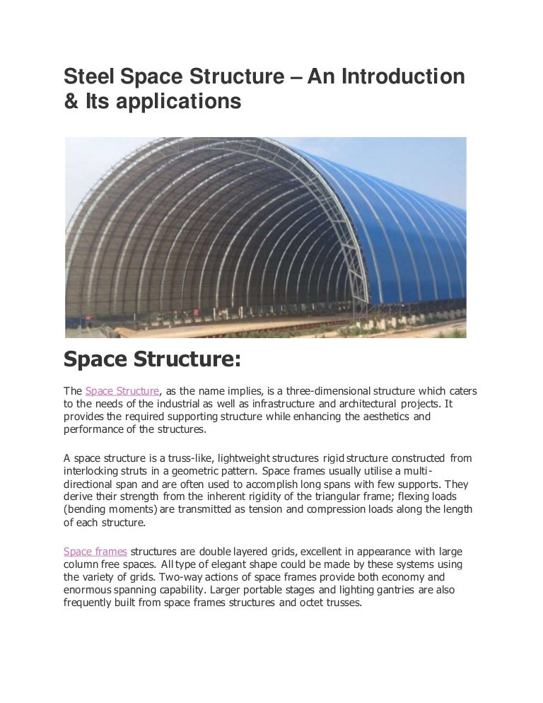 Space Structure and its Application