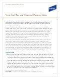 Year-End Tax Planning and Financial Planning Ideas - Dec. 2011