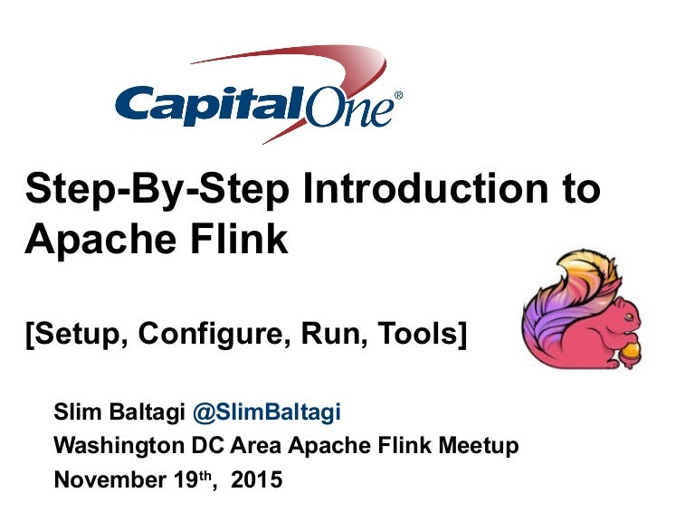 Step-by-Step Introduction to Apache Flink