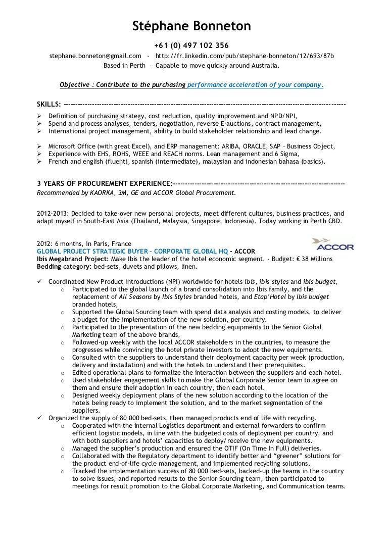 Buyer Resume Profile Personal Assistant Ctgoodjobs Powered Career