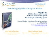 Lean IT strategy, lean measurement and organizational design