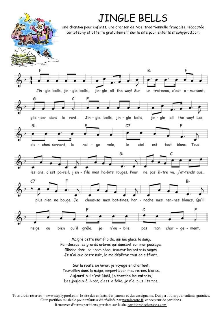 Partition Chant De Noel Stephy jingle bells partition chanson noel