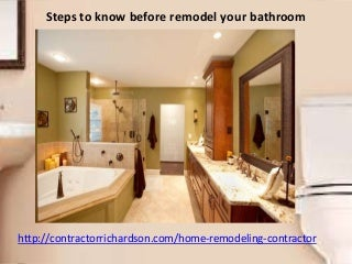 Steps To Know Before Remodel Your Bathroom