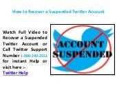 Steps to Recover a suspended Twitter Account 18002402551 Call Support Phone Number