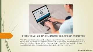 Steps to set up an e-commerce store in WordPress in PDF