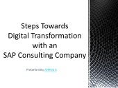Steps Towards Digital Transformation with an SAP Consulting Company - Apprisia